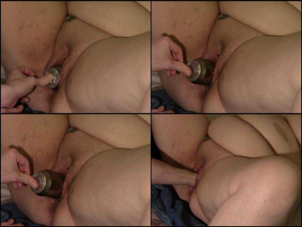 Beer tin and hard fisting pussy bbw amateur
