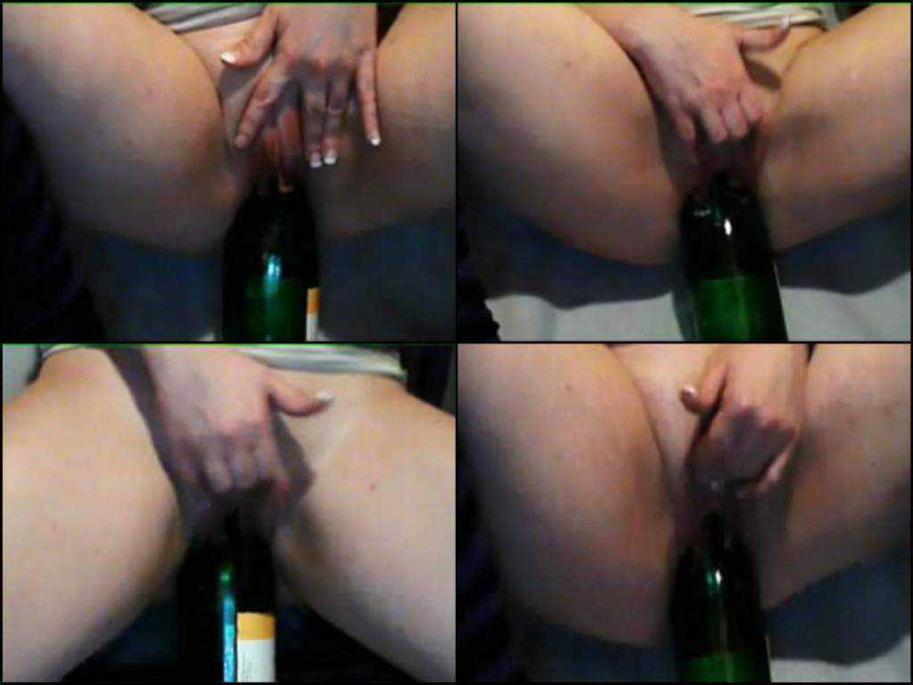 Giant wine bottle lady amateur skips