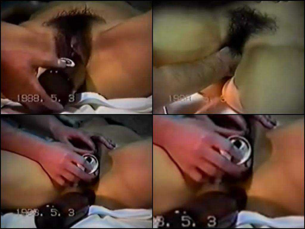 Fantastic homemade vintage hairy asian fisting