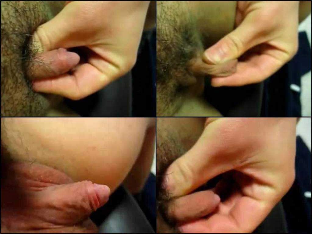 Colossal hairy clit homemade chick
