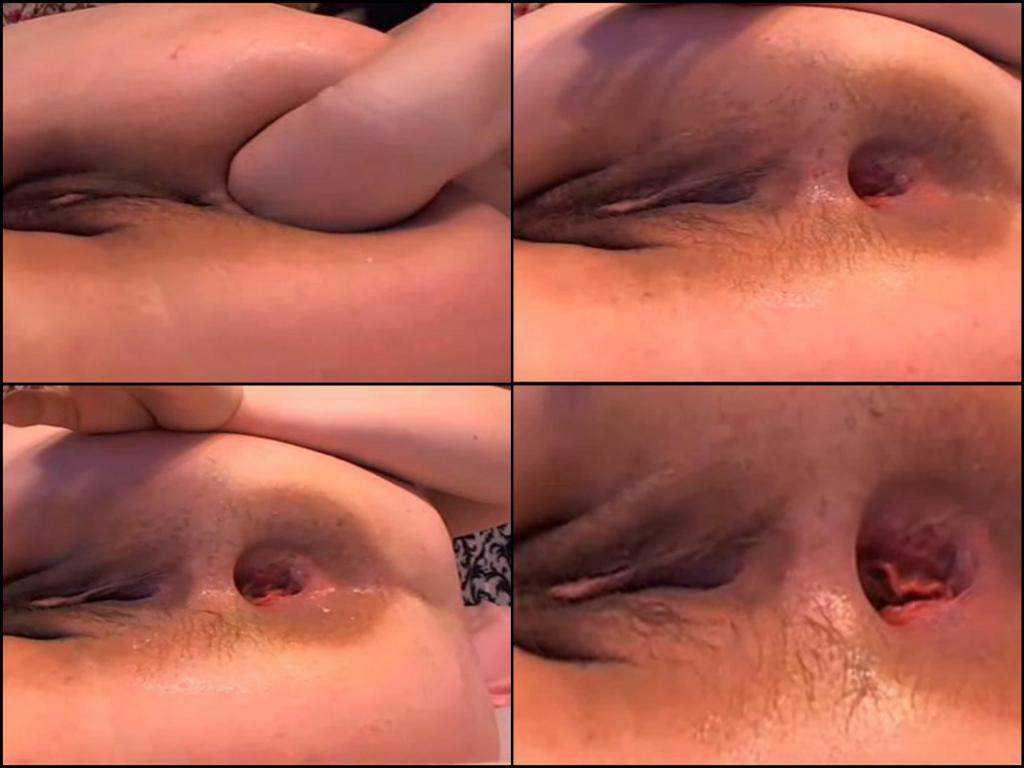 Unique webcam gaping ass very closeup
