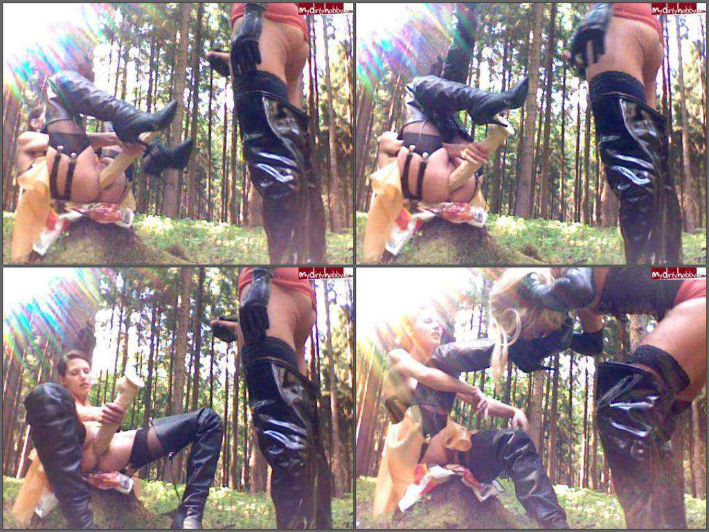 Amateur femdom boots sexy rubber mistress outdoor