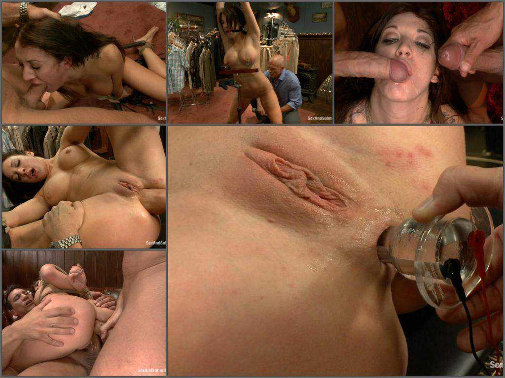 Amy Brooke amazing deepthroat and fisting domination
