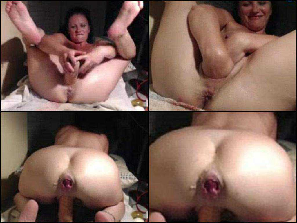 Depraved amateur milf double fisting and sweet rosebud