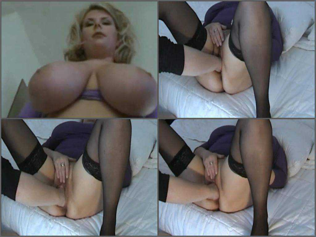Busty wife gets fisted closeup HD amateur