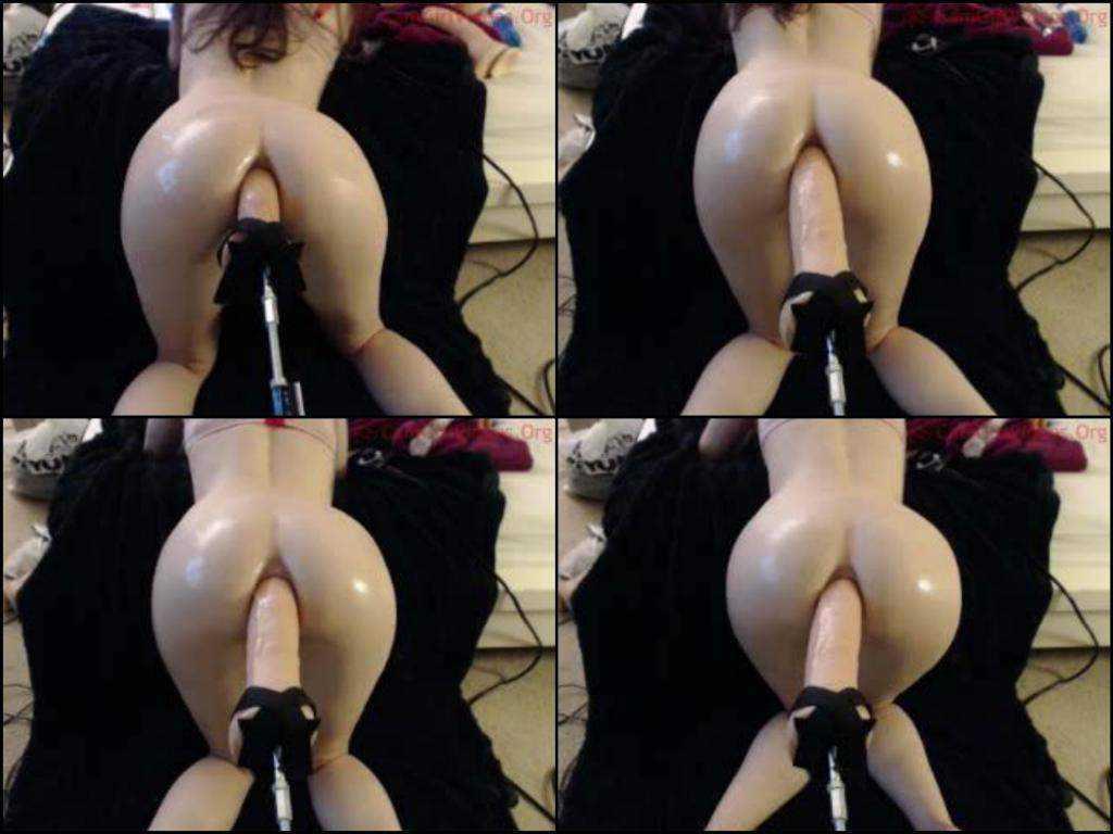 Sexy webcam booty girl fuckmachine anal hard penetration
