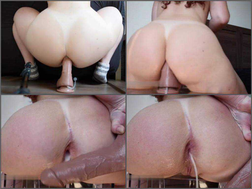 Ass dildo penetration