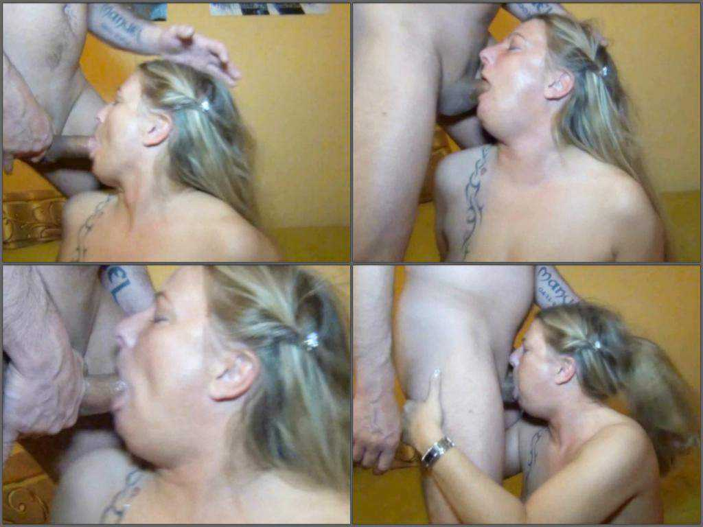 Extreme deepthroat fuck to gagging
