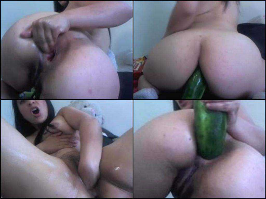 Hottie webcam bbw cucumber and fisting anal