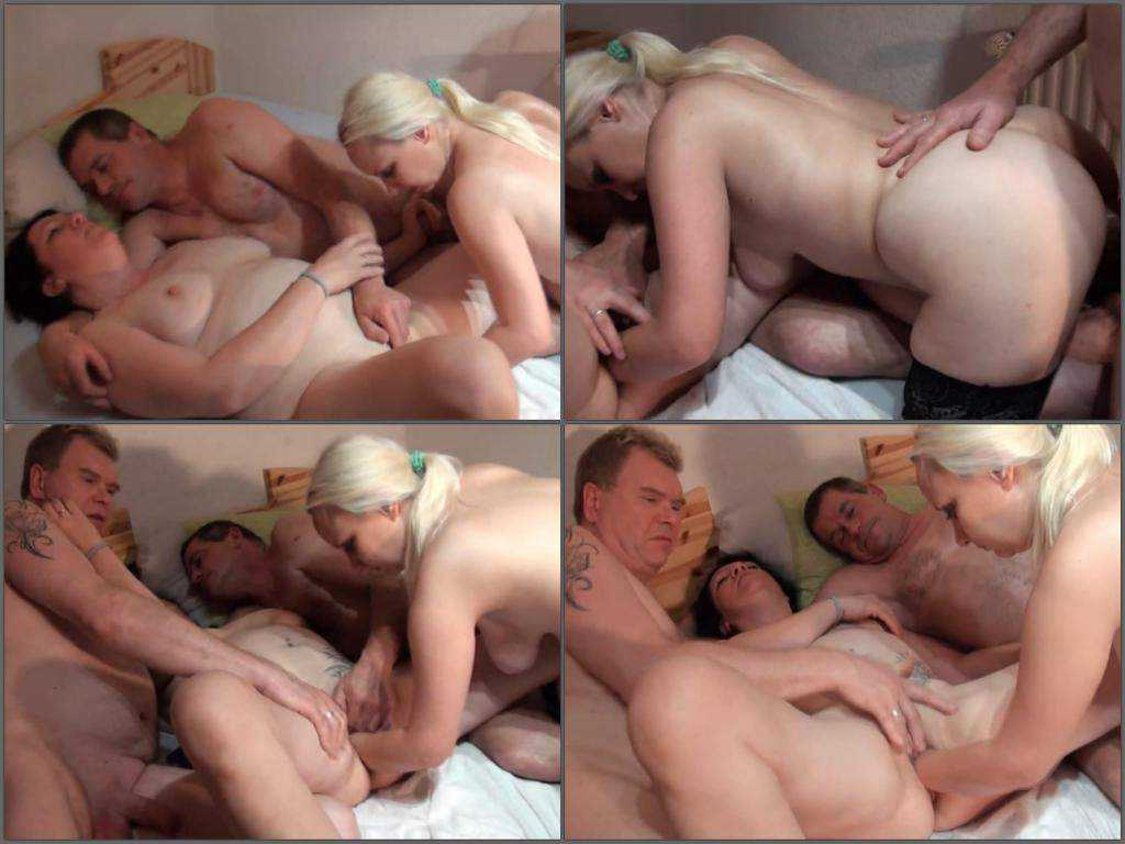 German gangbang elbow fisting party and sex