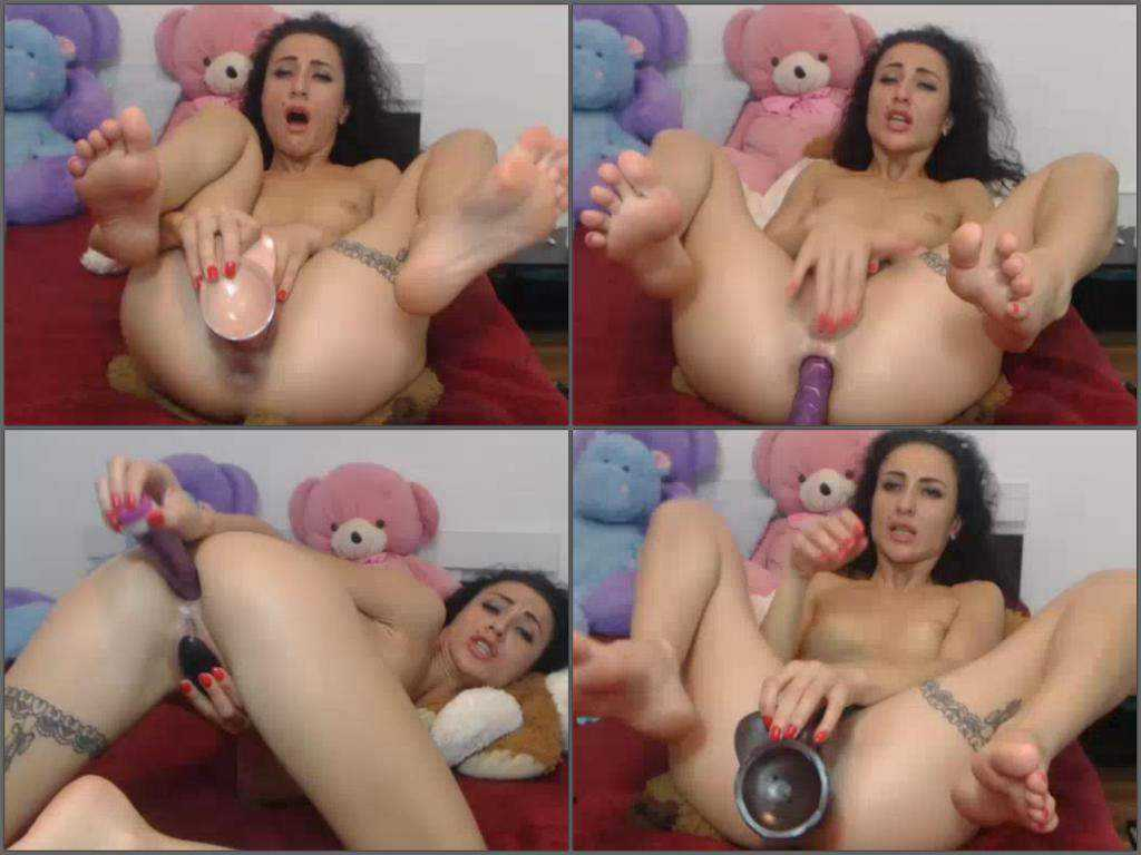Girl dildo anal and licking foot mad webcam