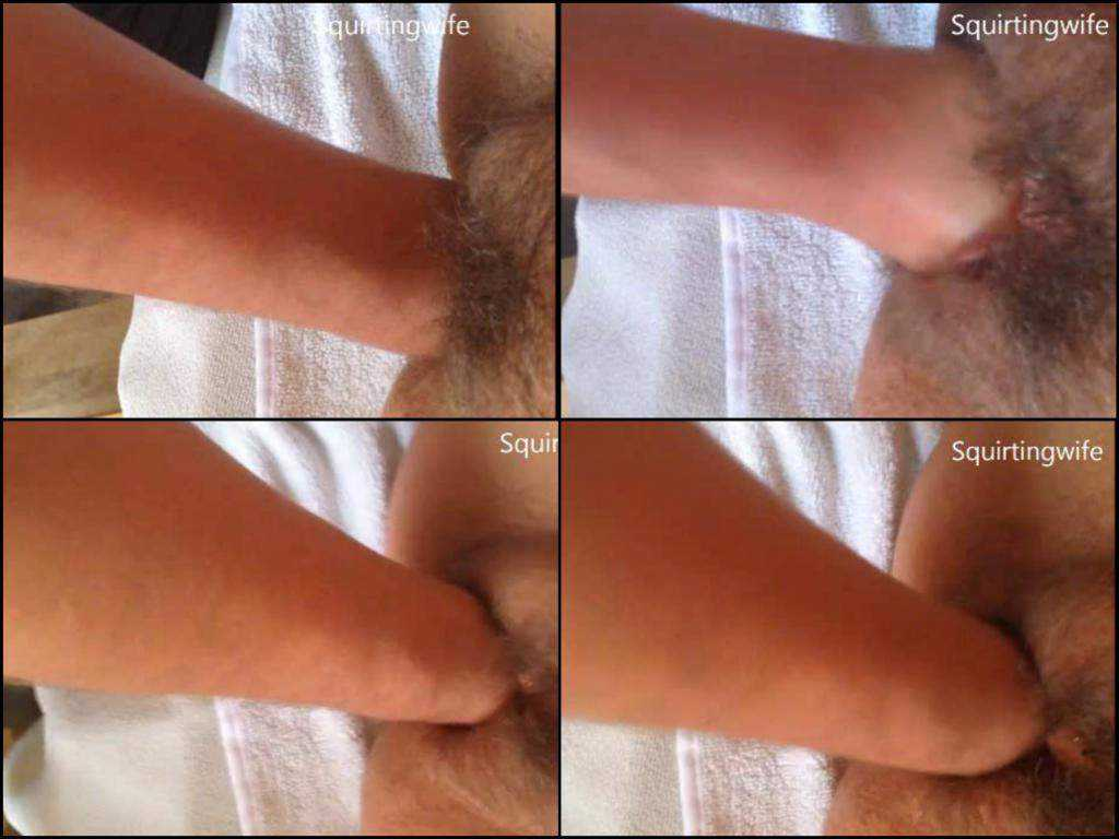Hairy cunt fisting very close extreme home video