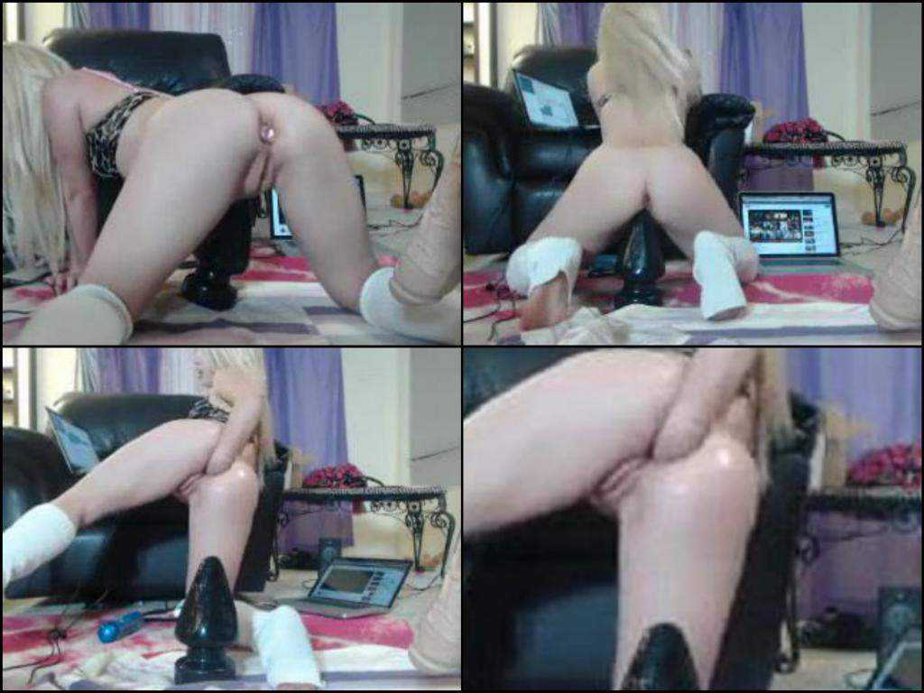 Kinky webcam blonde fisting anal hard