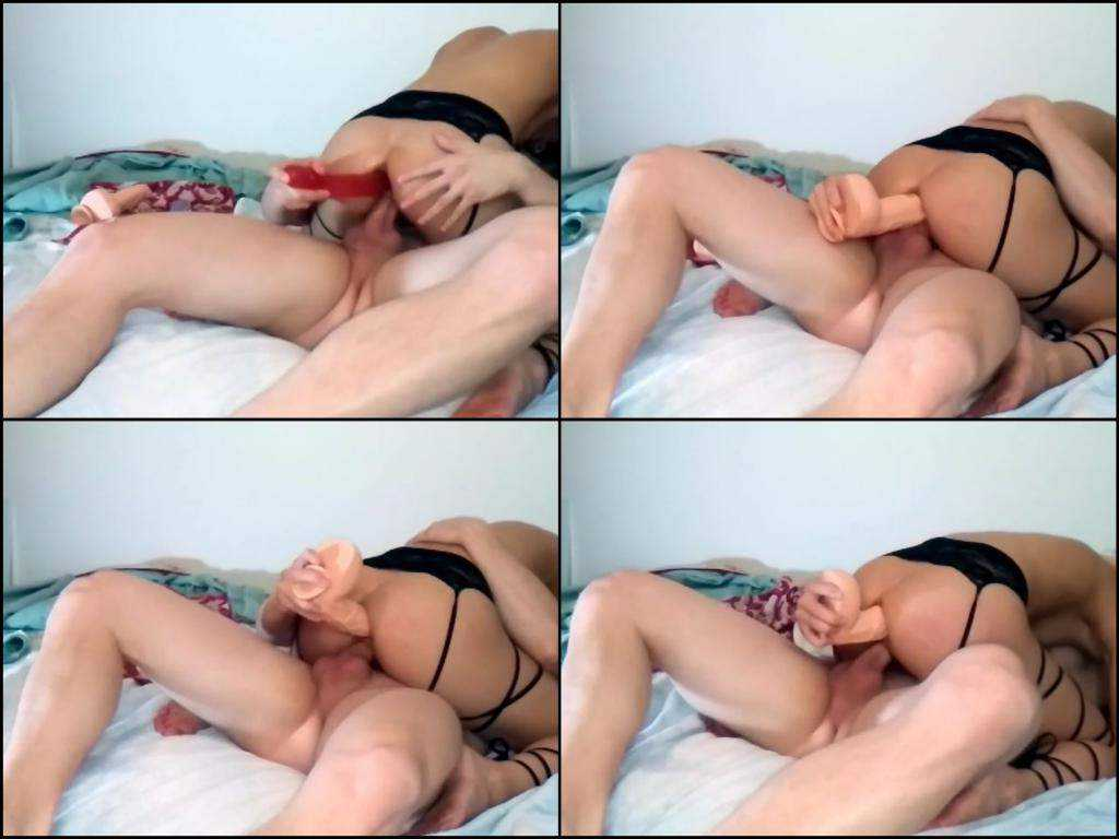 Good asian amateur video with extreme double penetrated
