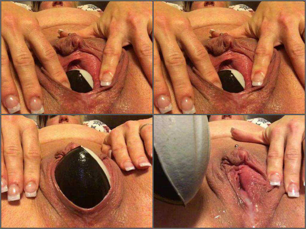 Kinky mature with big clit penetration ball in pussy