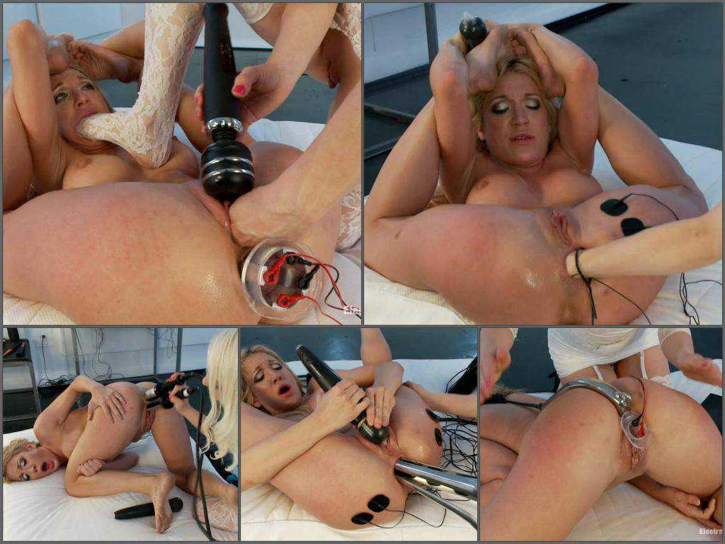 Lorelei Lee electro domination and fisted Amy Brooke