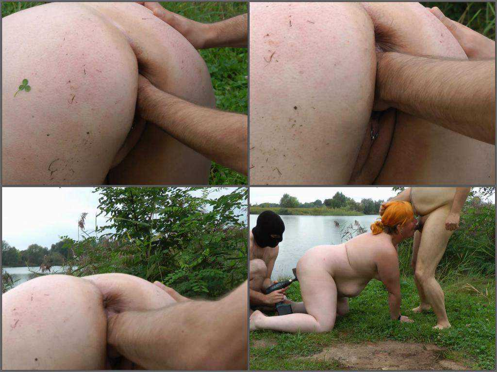 Outdoor fisting pussy big ass fatty wife