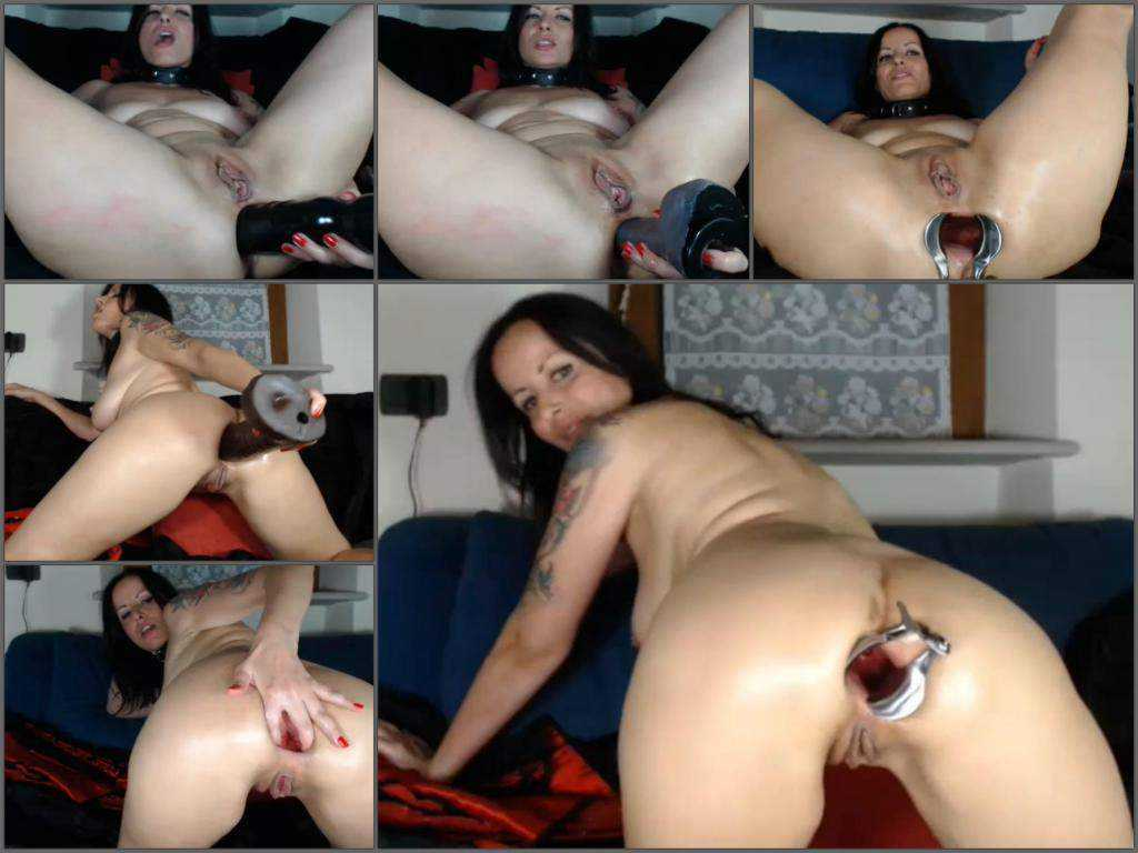 Speculum anal gaping ruined and huge dildo fully fuck
