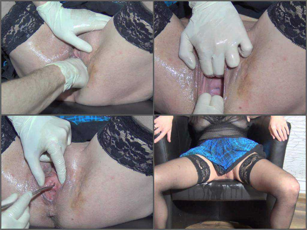 Wifes pussy fisting and peehole training