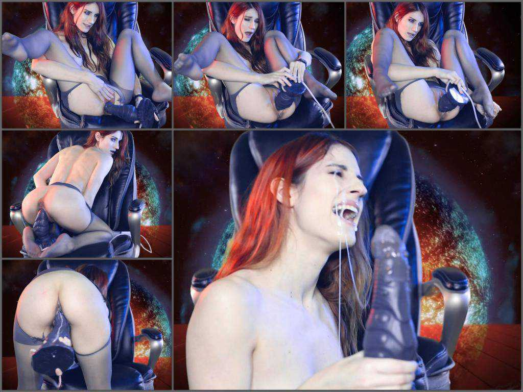 New 01.06.2017 MiaRand rides on a monster bad dragon dildo