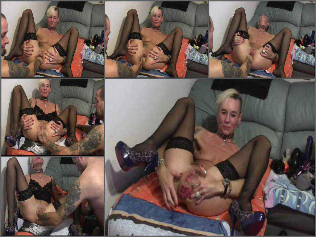 Perverted mature with rosebutt asshole gets fisted amateur porn
