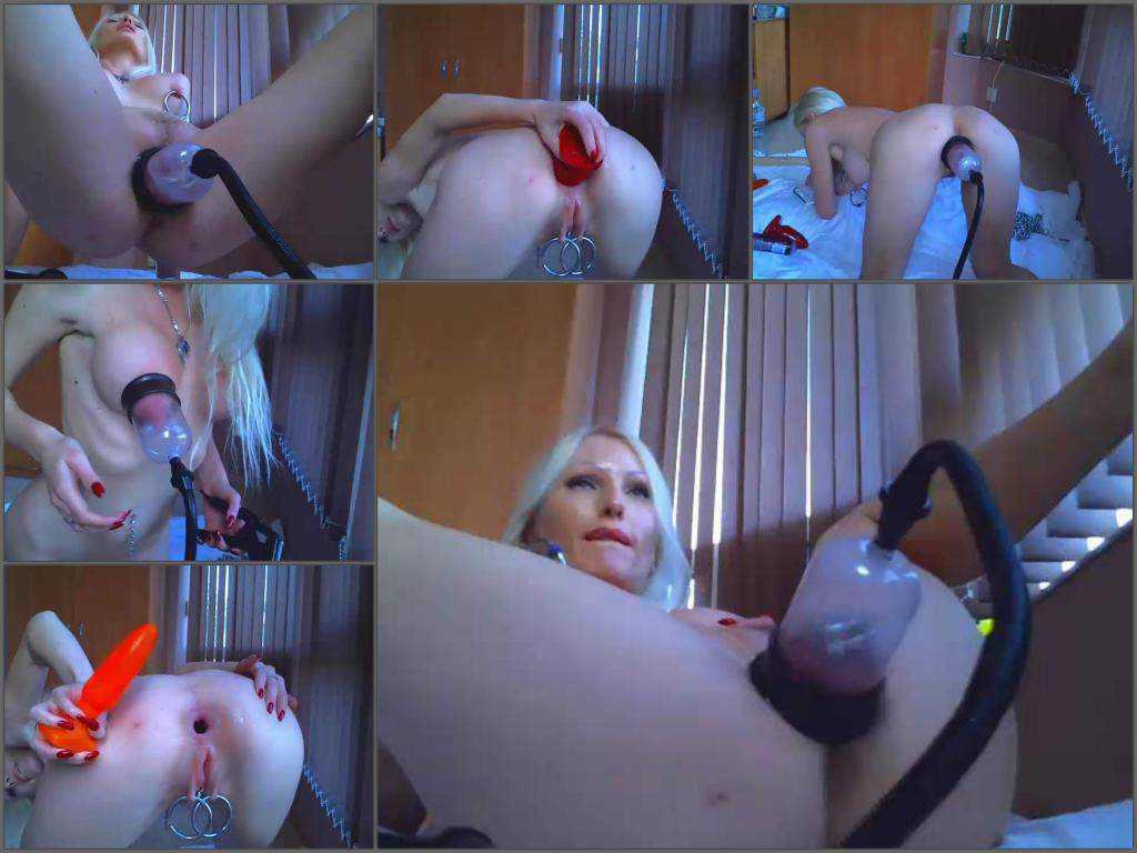 Russian busty girl jennysimpson solo pussypump and dildo anal webcam 2017