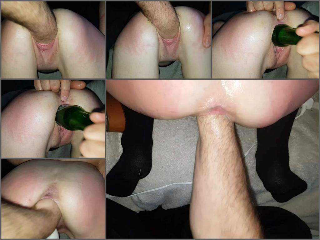 SluttyCuck forever loose – penetration fist and bottle in big pussy