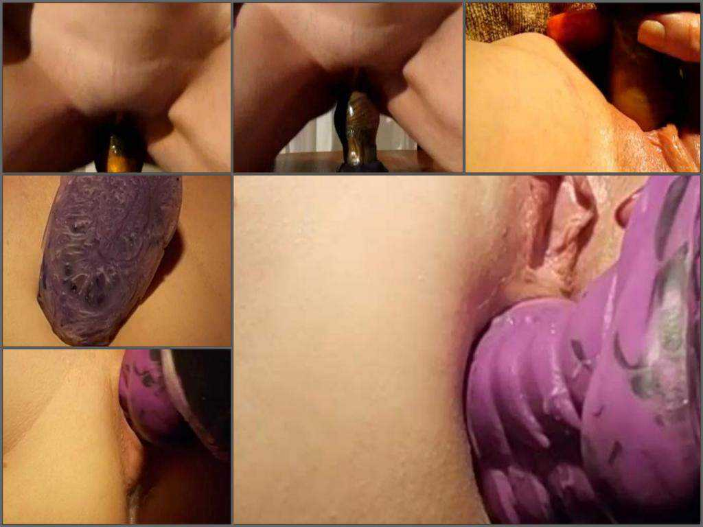 Wife penetration different bad dragon dildos in asshole and cunt – clips compilation