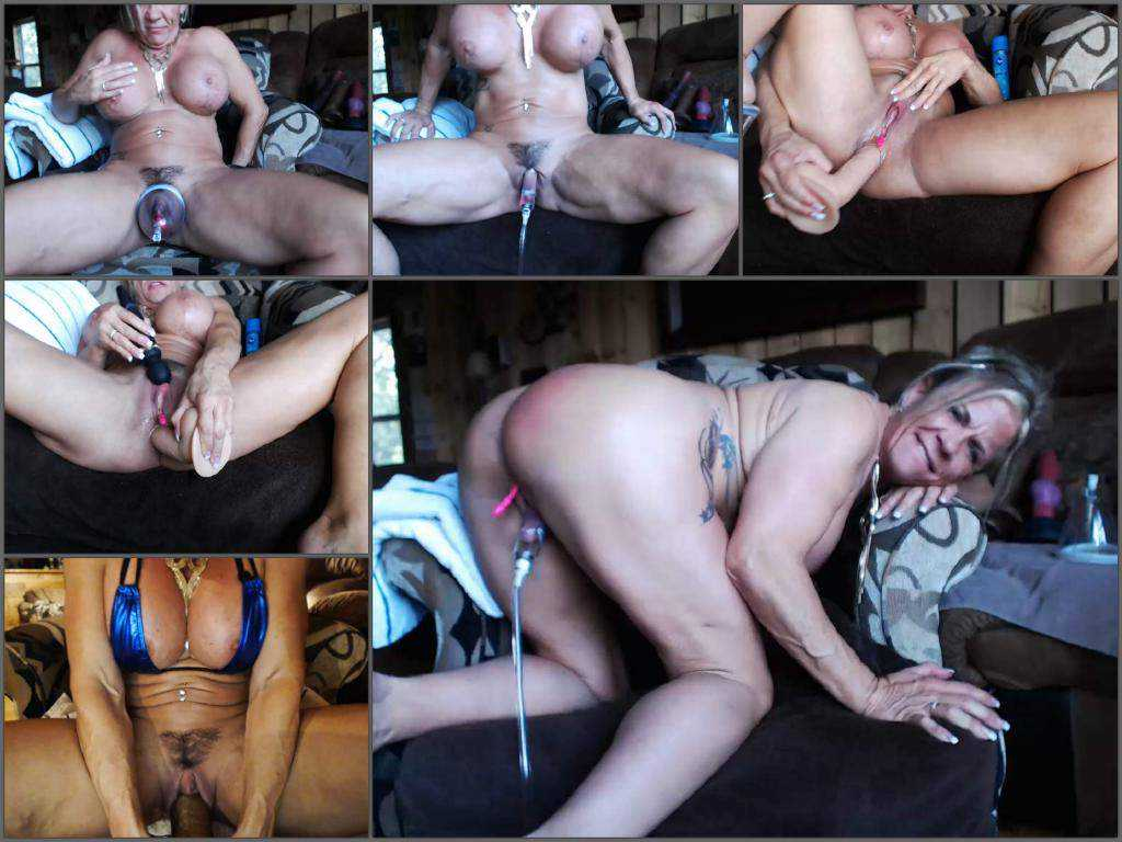 Muscular mature big clit and pussypump herself – Release February 19, 2018