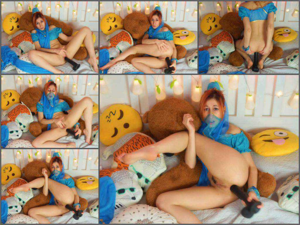 Dirty redhead teen PinKandy princess Jasmine wishes a BBC