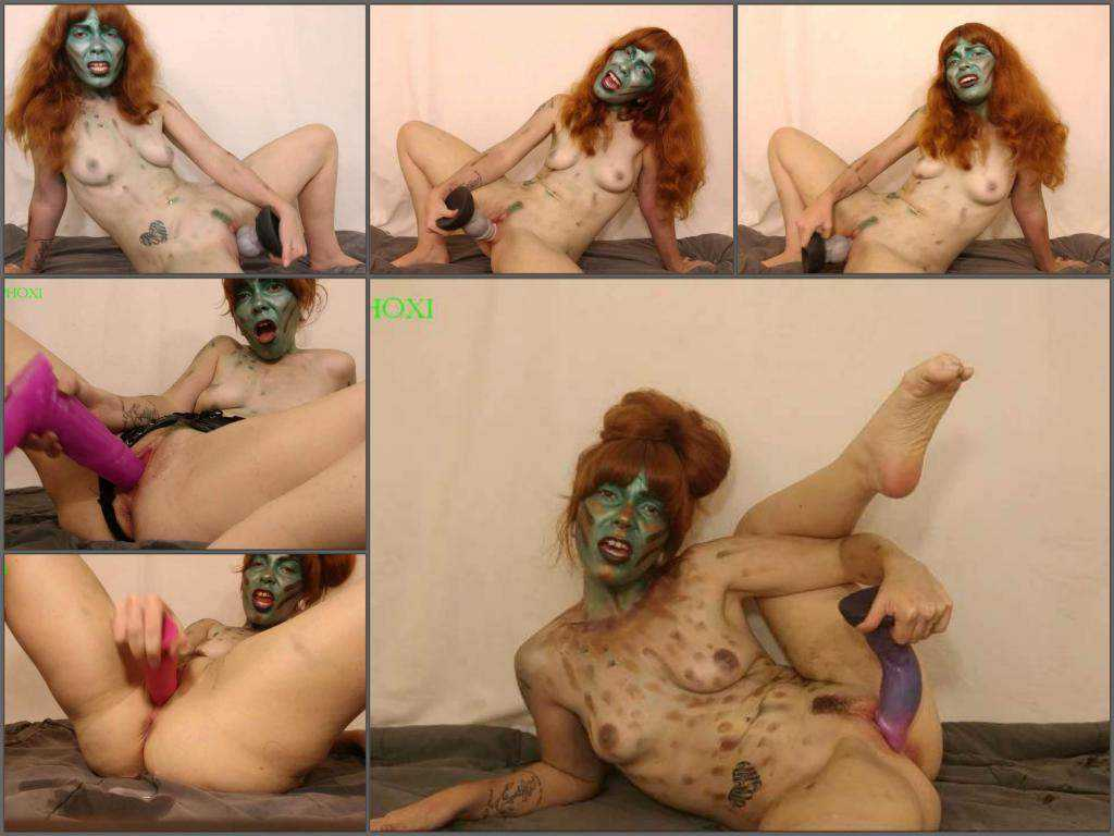 Zombie porn with Delphoxi space babe fucks the creatures of earth