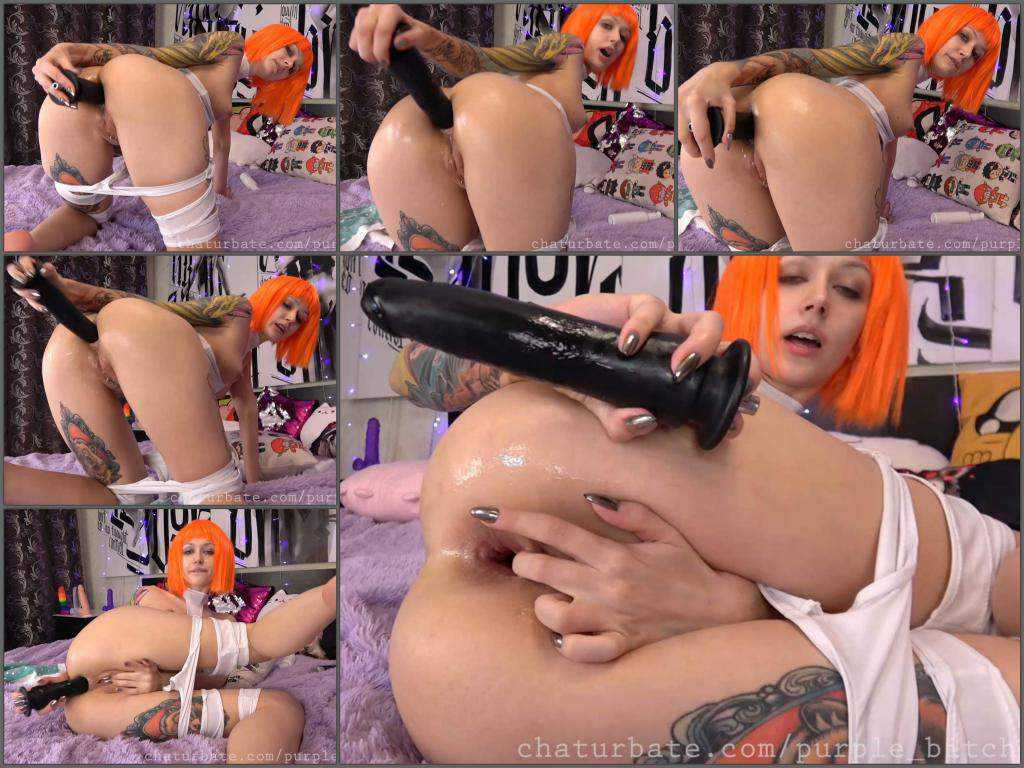 Purple_bitch Leeloo drinks creampie and dildo anal games