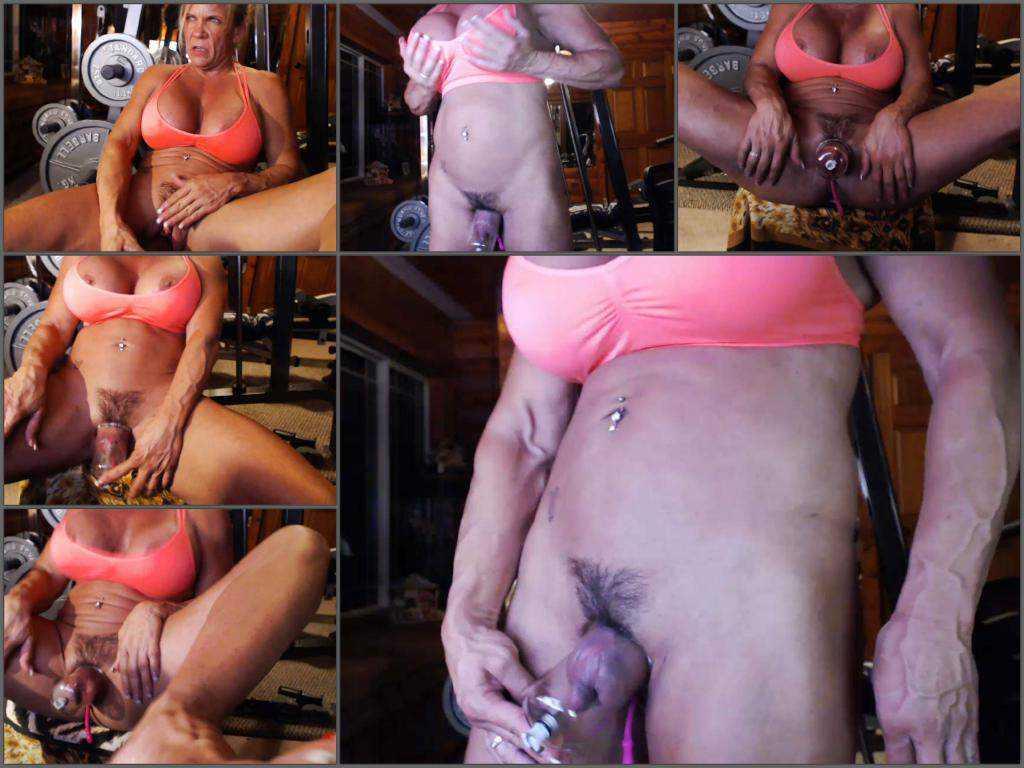 Kinky muscular mature musclemama4u big labia pump webcam