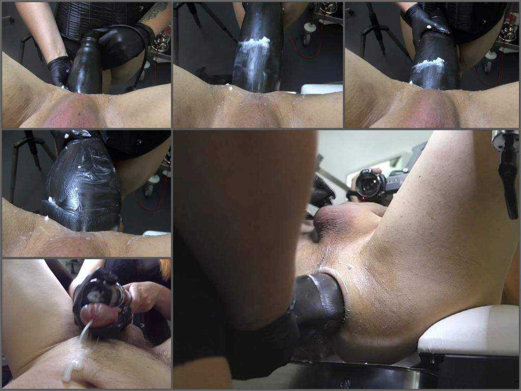 Mistress wife monster BBC dildo domination to husband