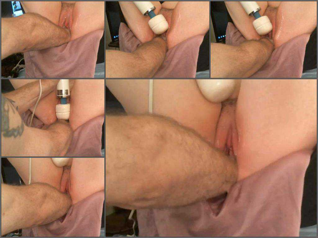 Amateur amazing couple vaginal fisting sex POV