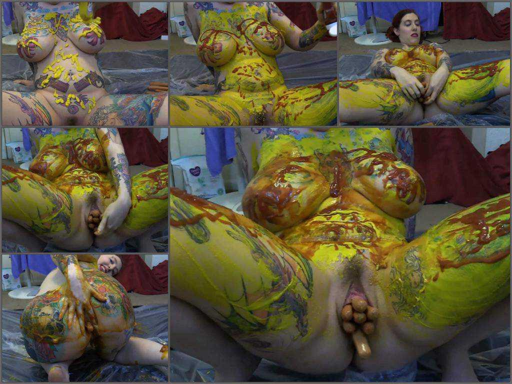 Webcam Sasha Lynne HotDog harlet pussy/anal ExtremMessyFuck