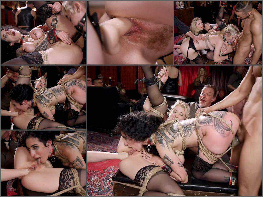 Aiden Starr, Chloe Cherry and Arabelle Raphael anal fisting public domination