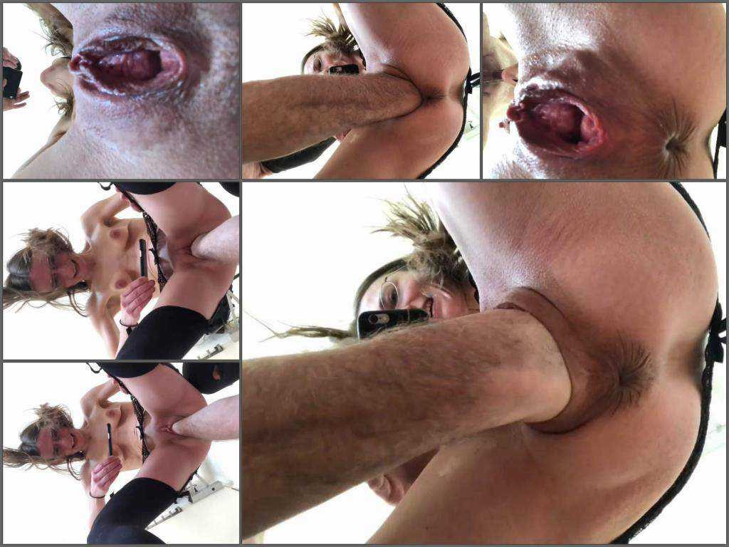 KarinaHH very closeup vaginal fisting video of 2018