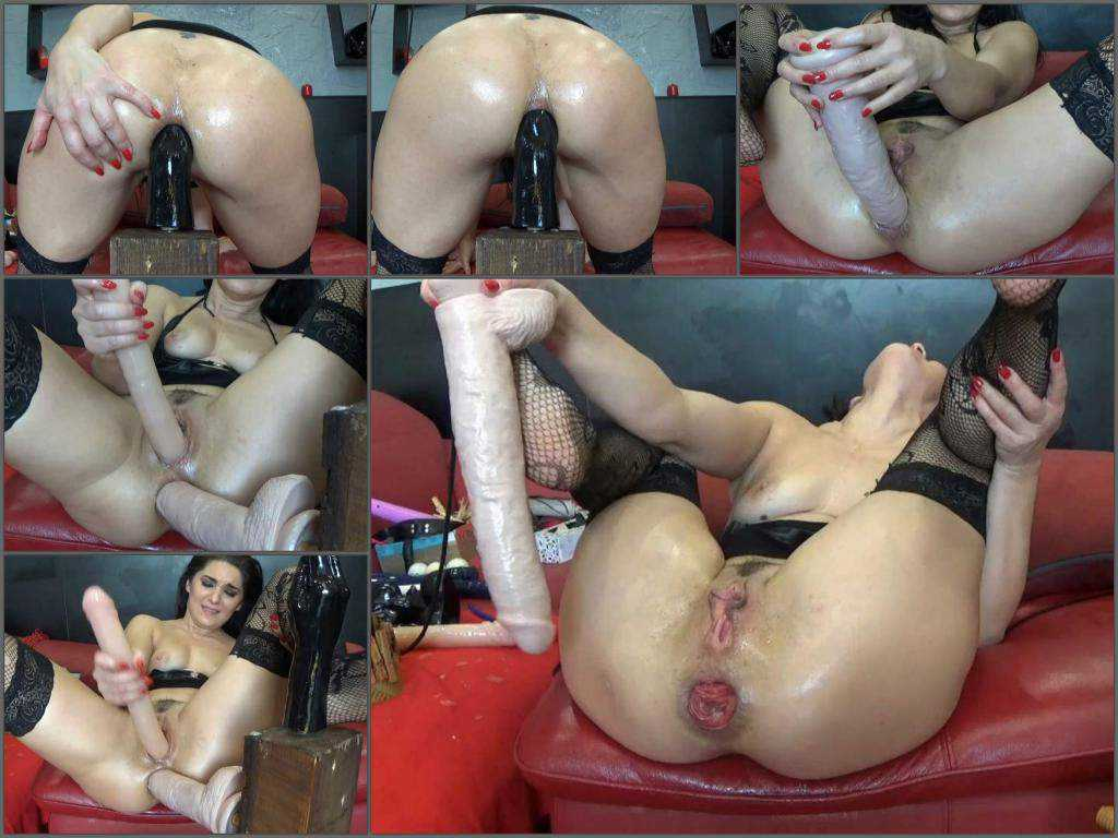 Anal – BIackAngel deep fisting and toying ass to prolapse