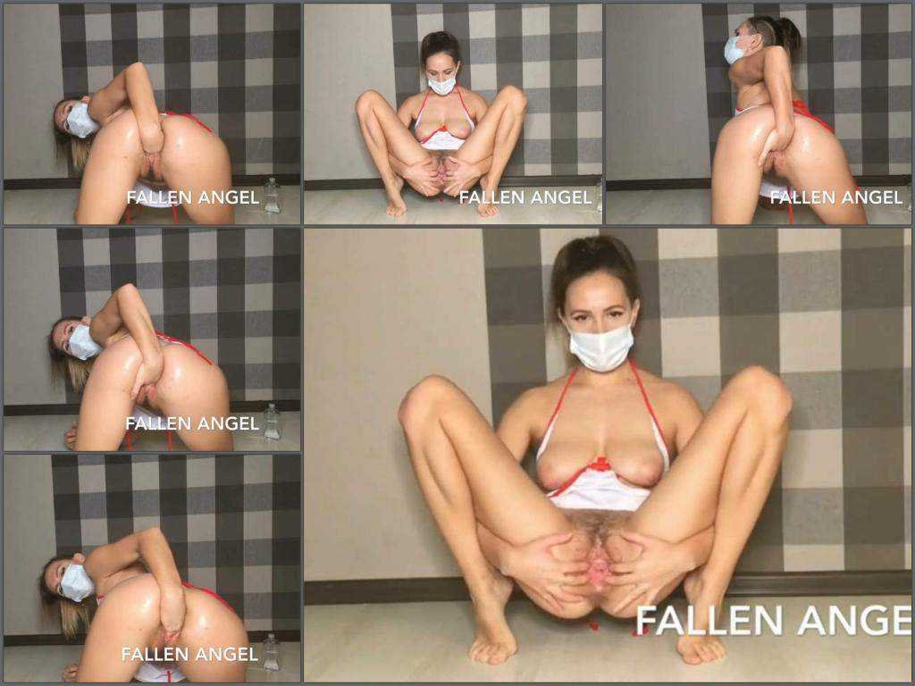 Hairy – Honey Anastazzzi hot nurse in mask makes fisting in doggy pose