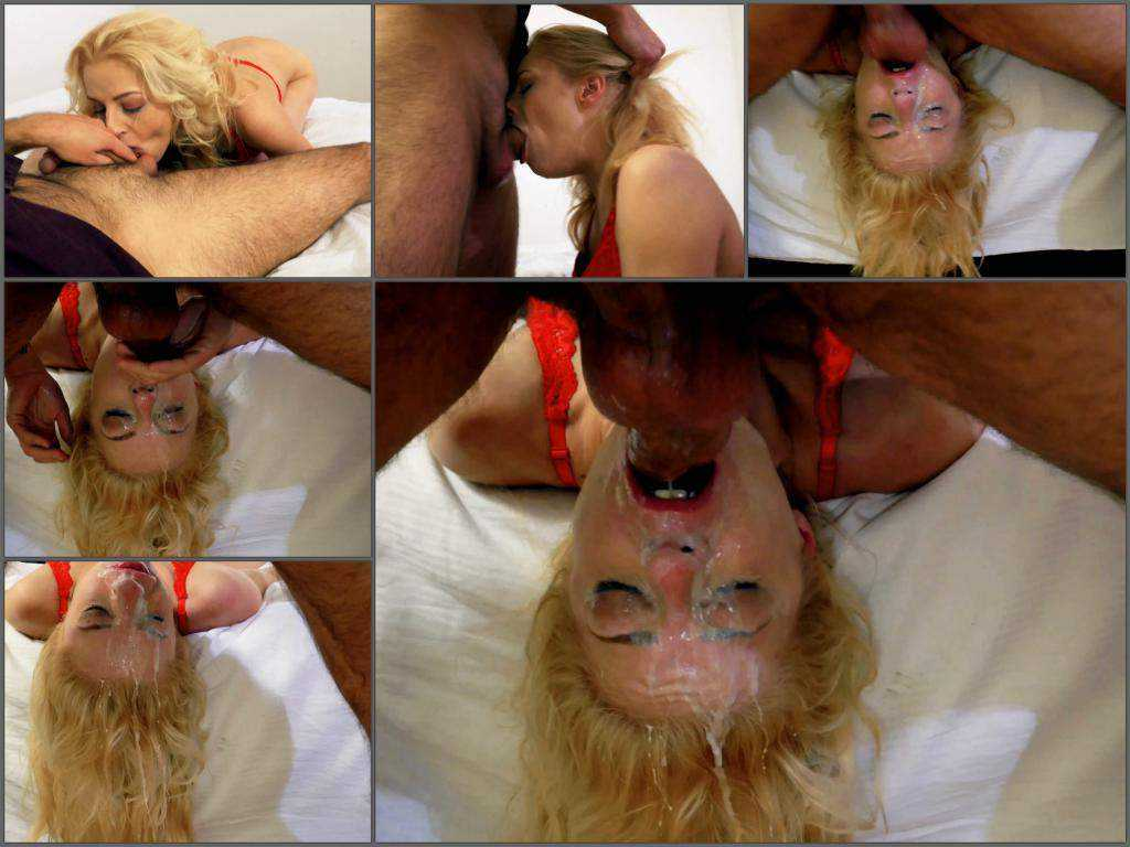 Deepthroating – Blonde rough deepthroat fuck to vomitting in 4k quality