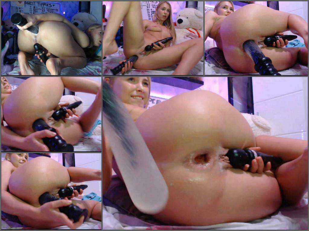 Huge dildo – Siswet19 penetration new wolf dildo in her gaping hole