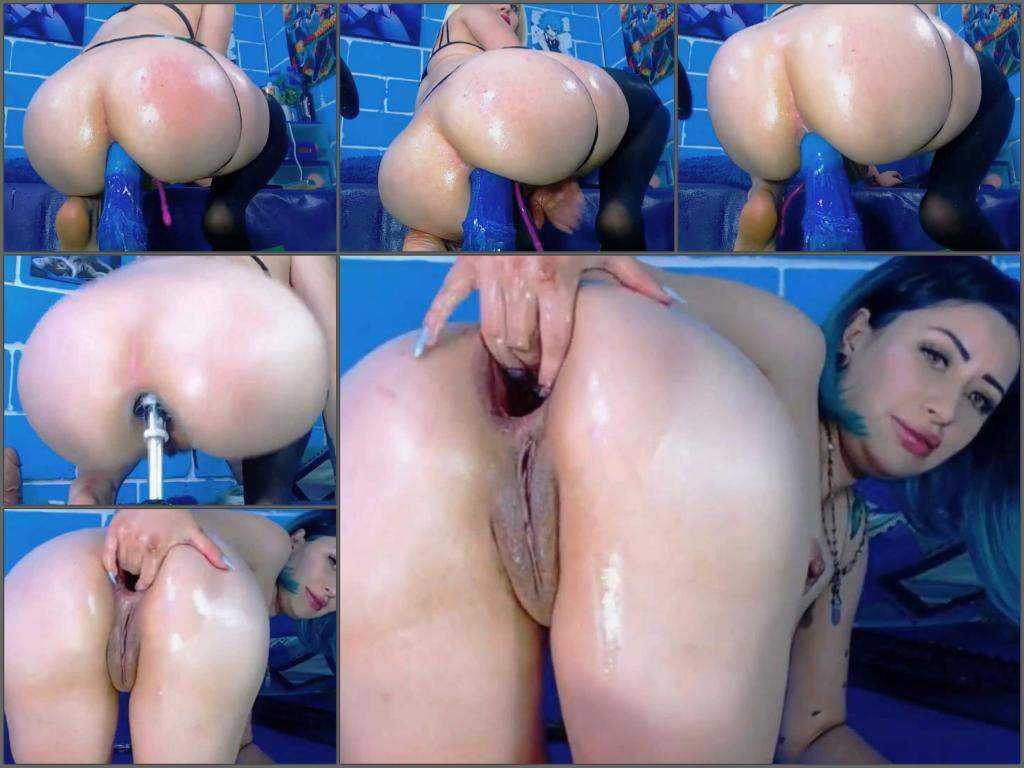 Anal – Karlakole monster horse dildo insert in amazing anal gape