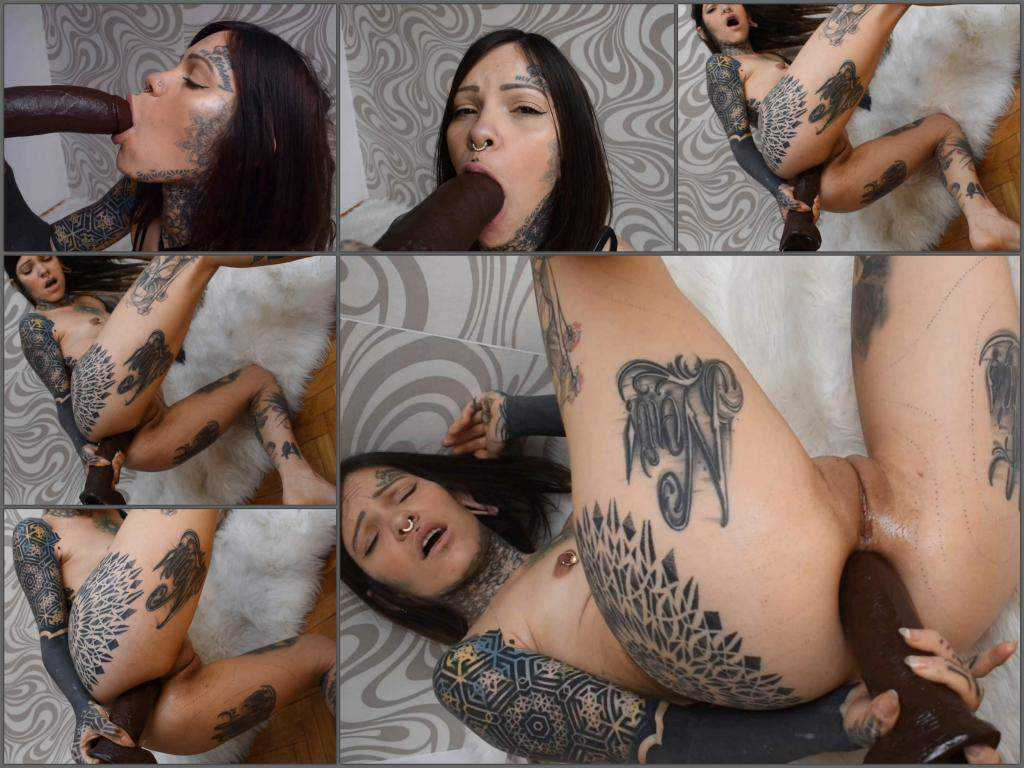 Huge dildo – Paulam my first anal BBC – Spanish tattoed girl