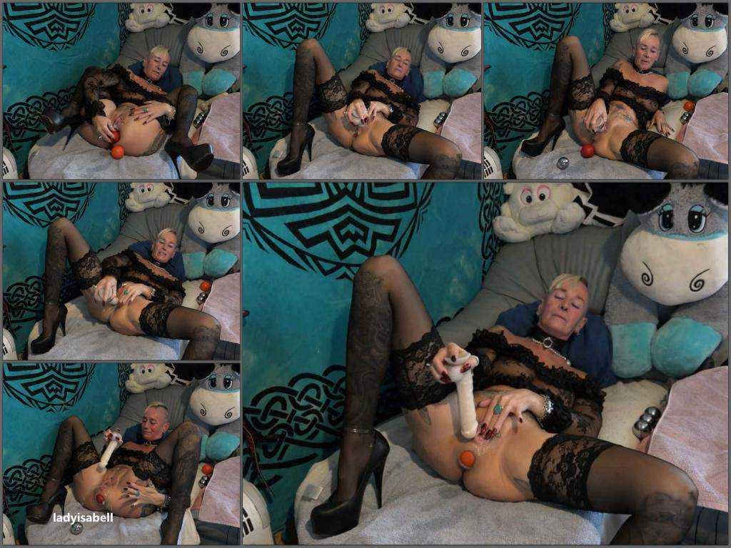 German girl – Lady-isabell666 my biggest giant ball u an iron ball and then fuck until the ass