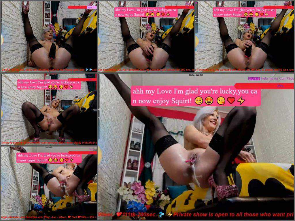 Dildo porn – Kinkylolaxxx penetration boots in pussy and many squirts time in this webcam