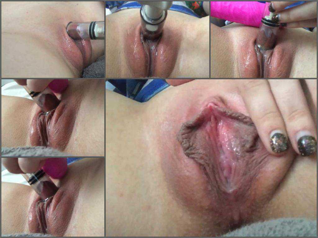 Large labia – Large labia camgirl huge clit pump closeup webcam