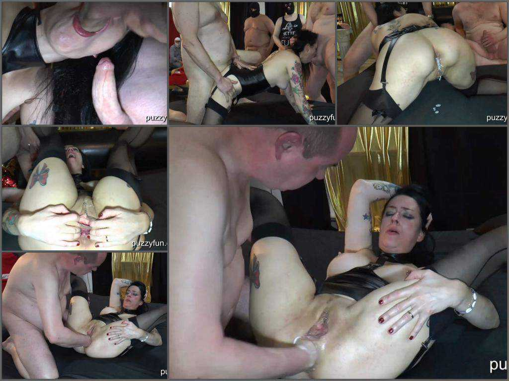 Closeup – Adeline Lafouine creampie gangbang with fisting amateur