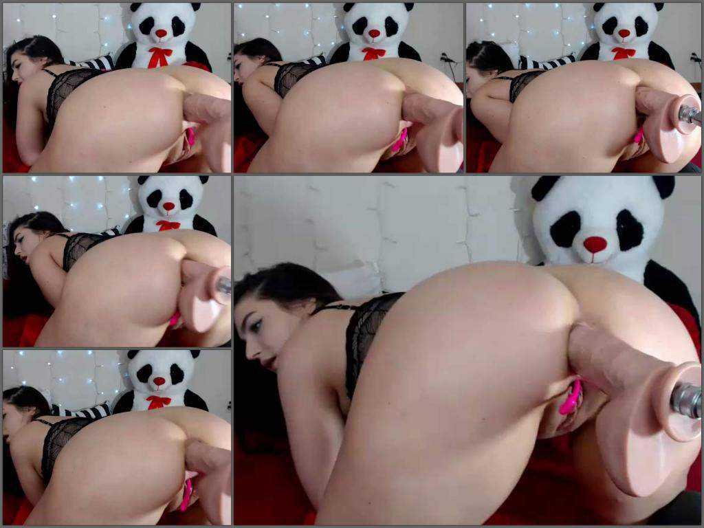 Webcam teen – Lexa4512 fucking machine anal driller in doggy pose closeup