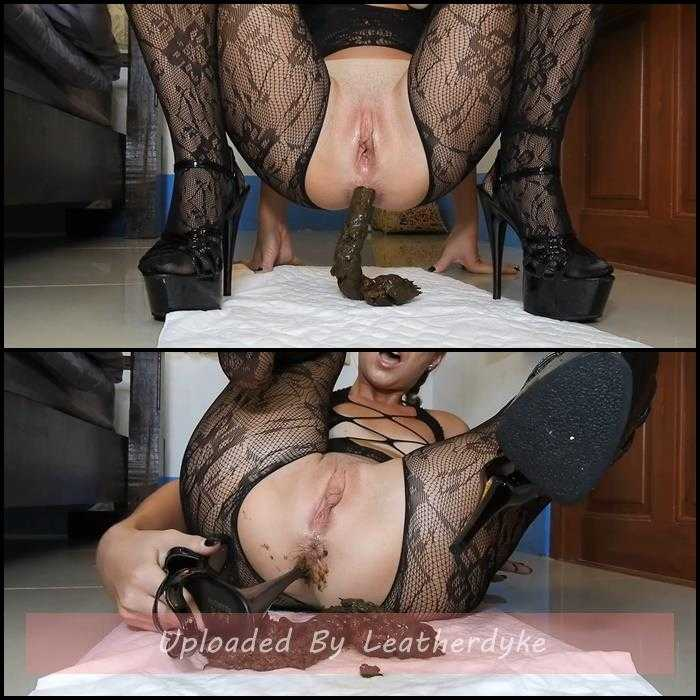 Poopy Platform Heels Anal Fuck In Fishnets/JOI with MissAnja | Full HD 1080p | July 31, 2020